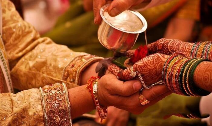 panigrahan ritual rajasthani wedding
